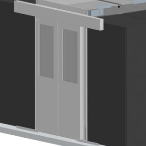 Vertiv Knürr Dcc containment sliding door, for aisle width 1200mm, for rack height 2000mm, including