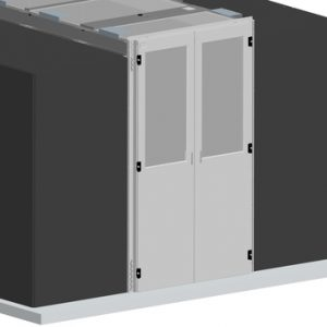 Vertiv Knürr Dcc containment double door, for aisle width 1200mm, for rack height 2000mm, including