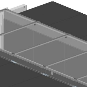Vertiv Knürr Dcc containment roof element, for aisle width 1200mm, for rack width 800mm, including a