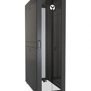 Vertiv VR3100SP rack cabinet 42U Freestanding rack Black, Transparent